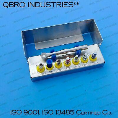 Mini kit de pilote d'implant dentaire avec cliquet universel 4,0 mm carré…